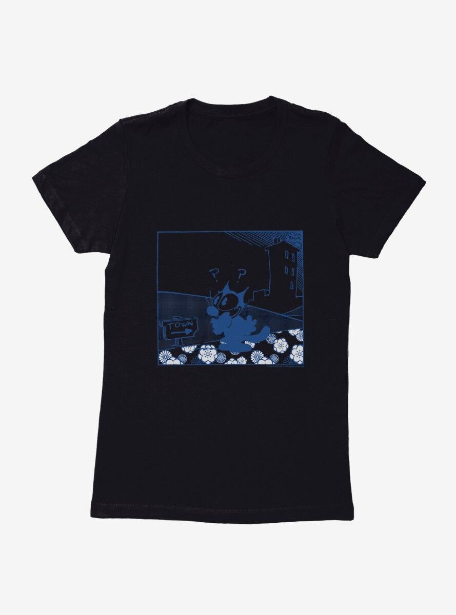 Felix The Cat Lost Womens T-Shirt