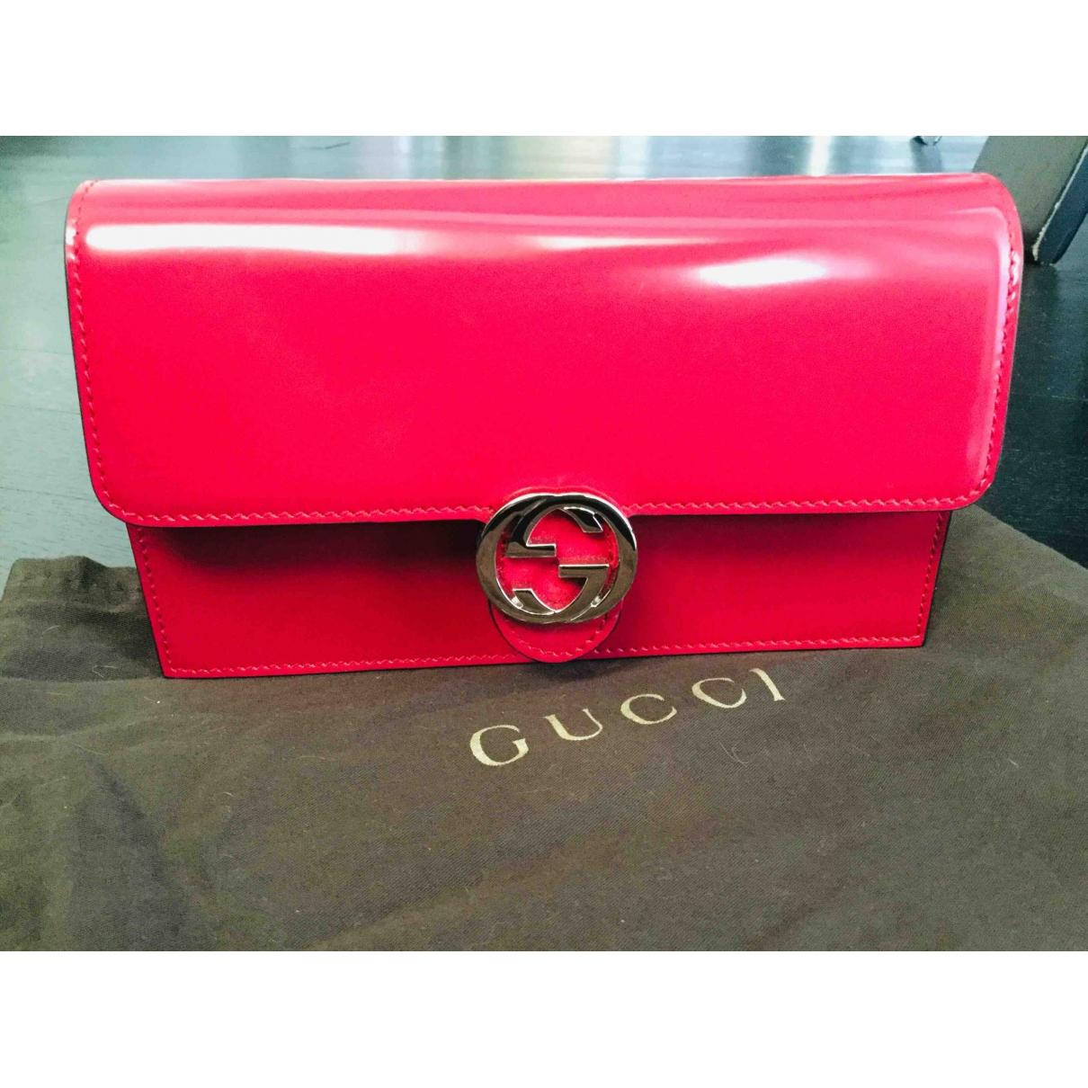 Gucci Interlocking Clutch in Leder