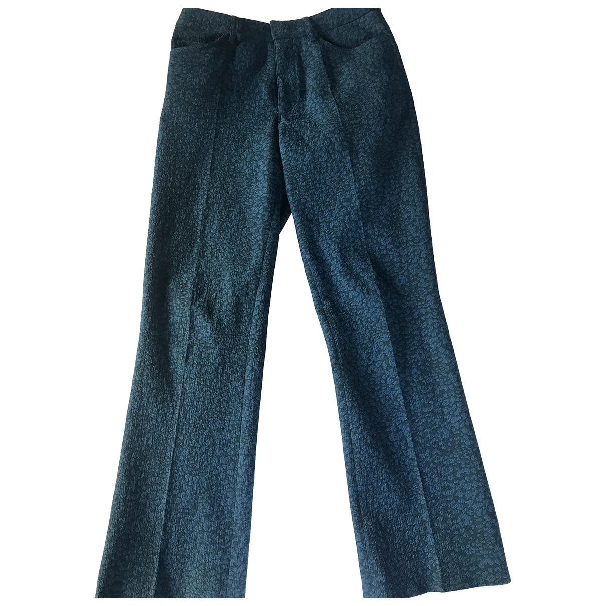 Zadig & Voltaire \N Blue Cotton Trousers for Women 38 FR