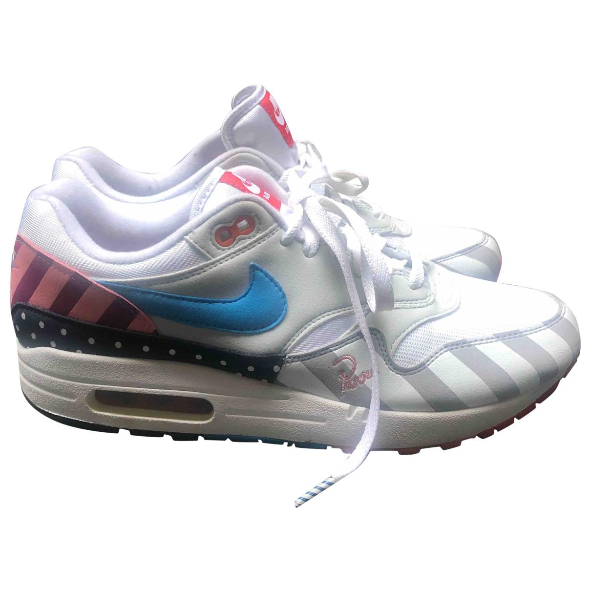 Nike X Parra Air Max  Sneakers in  Weiss Leder
