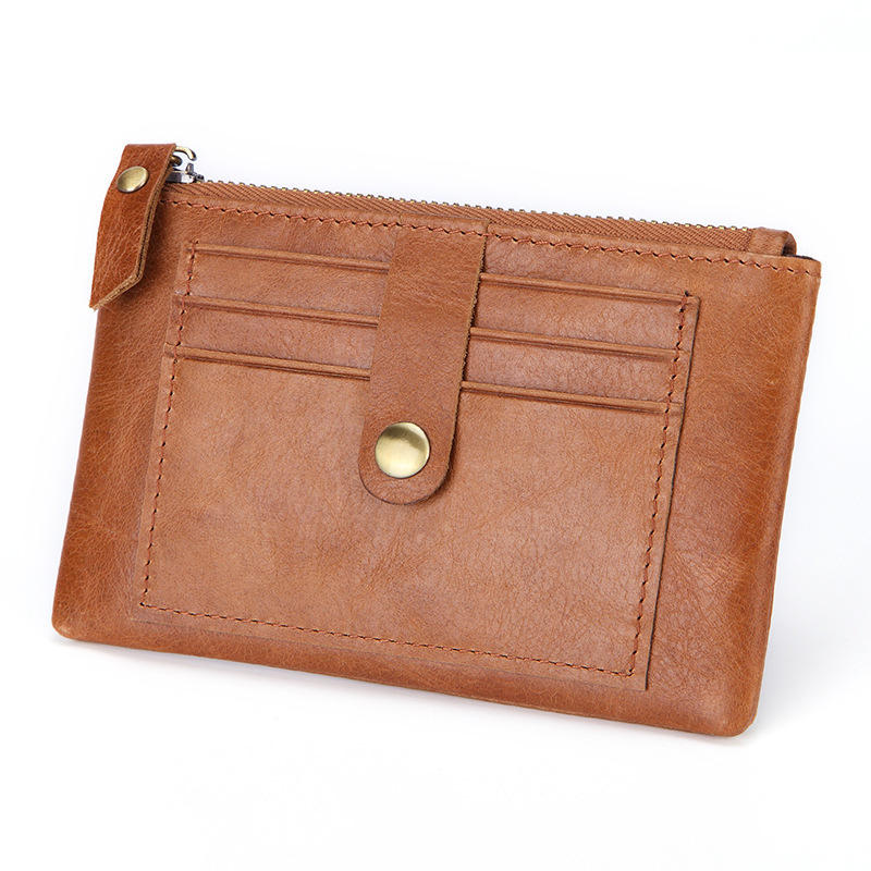 Leather Coin Purse Multi-function Coins Bag Card Mini Key Case