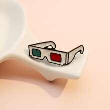 Broche con diseño de gafas