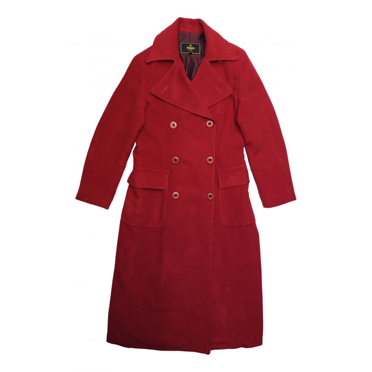 Fendi - Trench   pour femme en laine - rouge