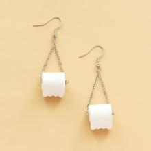 Maedchen Ohrringe mit Papier Dekor