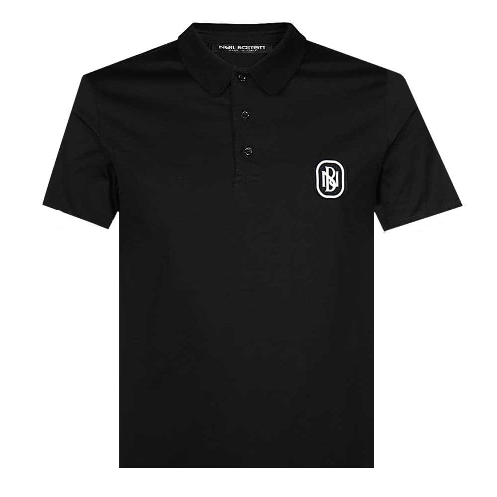 Neil Barrett Logo Polo Colour: BLACK, Size: LARGE