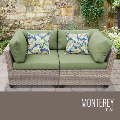 MONTEREY-02a-CILANTRO Monterey 2 Piece Outdoor Wicker Patio Furniture Set 02a with 2 Covers: Beige and