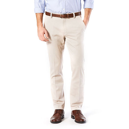 Dockers Men's Slim Fit Easy Khaki with Stretch Pants, 33 30, Beige