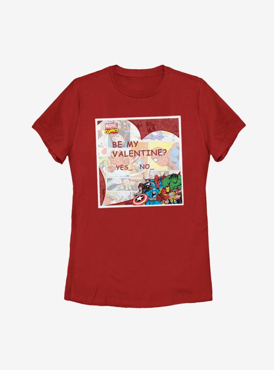 Marvel Avengers Valentine Womens T-Shirt