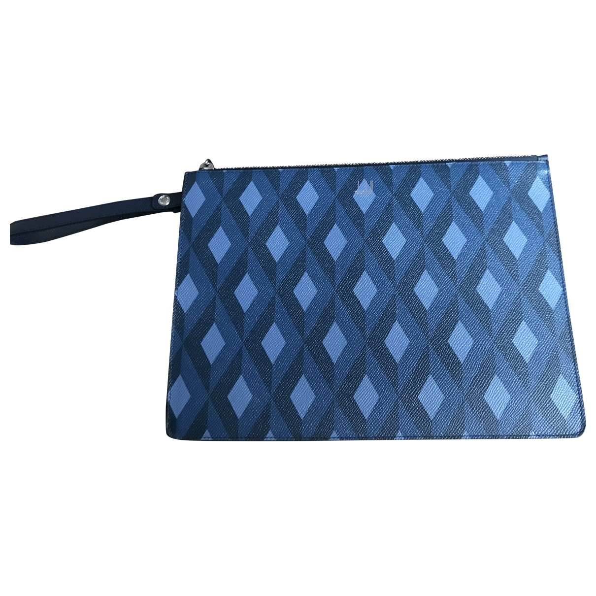 Alfred Dunhill \N Blue Cloth Small bag, wallet & cases for Men \N
