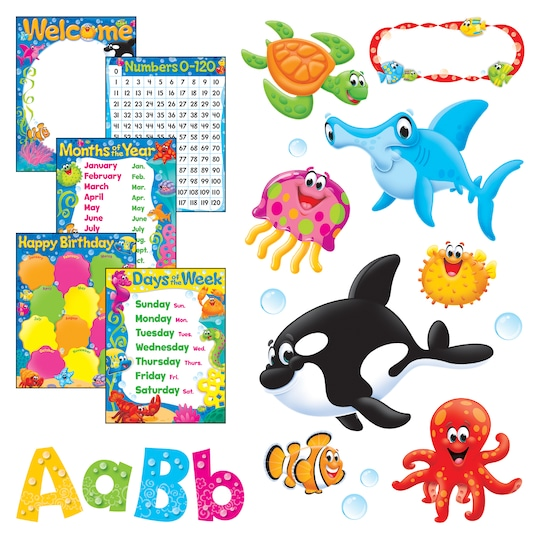 Sea Buddies™ Helpers Room Décor Super Packs By Trend | Michaels®