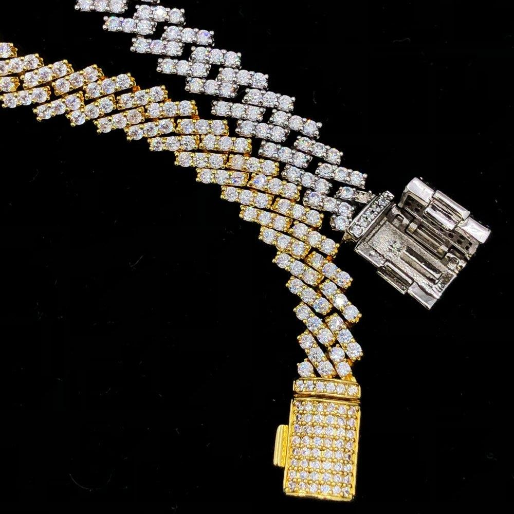 Cuban Box Link Hip Hop Bling Bling Bracelet (2 Sizes)