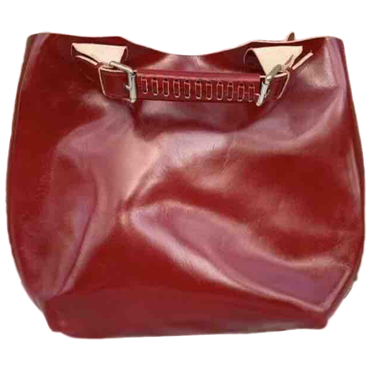 Non Signé / Unsigned N Red Leather Clutch bag for Women N