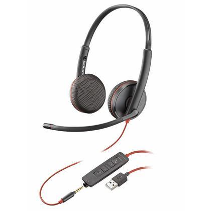 Plantronics Blackwire C3225 Headset, Black, USB Type A