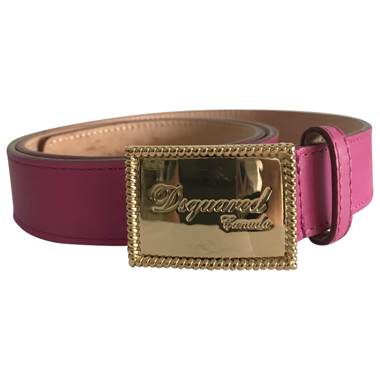 Dsquared2 \N Pink Leather belt for Women 75 cm