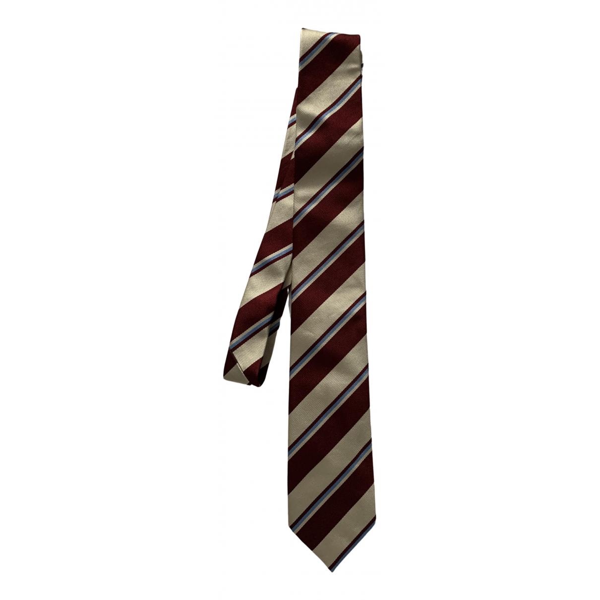 Prada \N Krawatten in  Bordeauxrot Seide