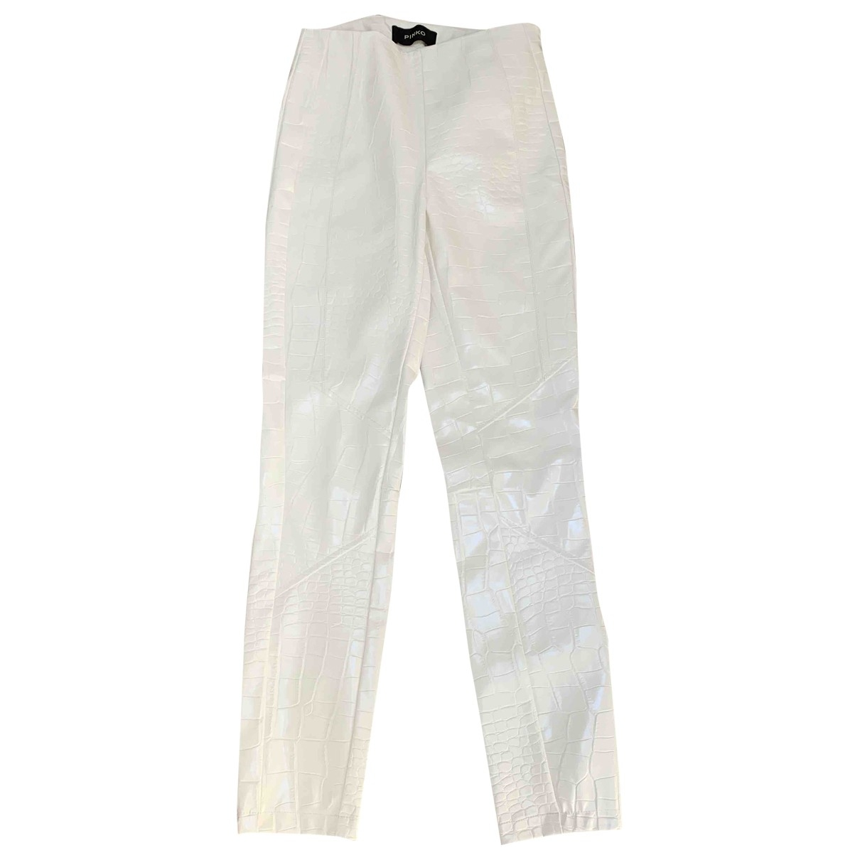 Pinko \N White Trousers for Women 40 IT