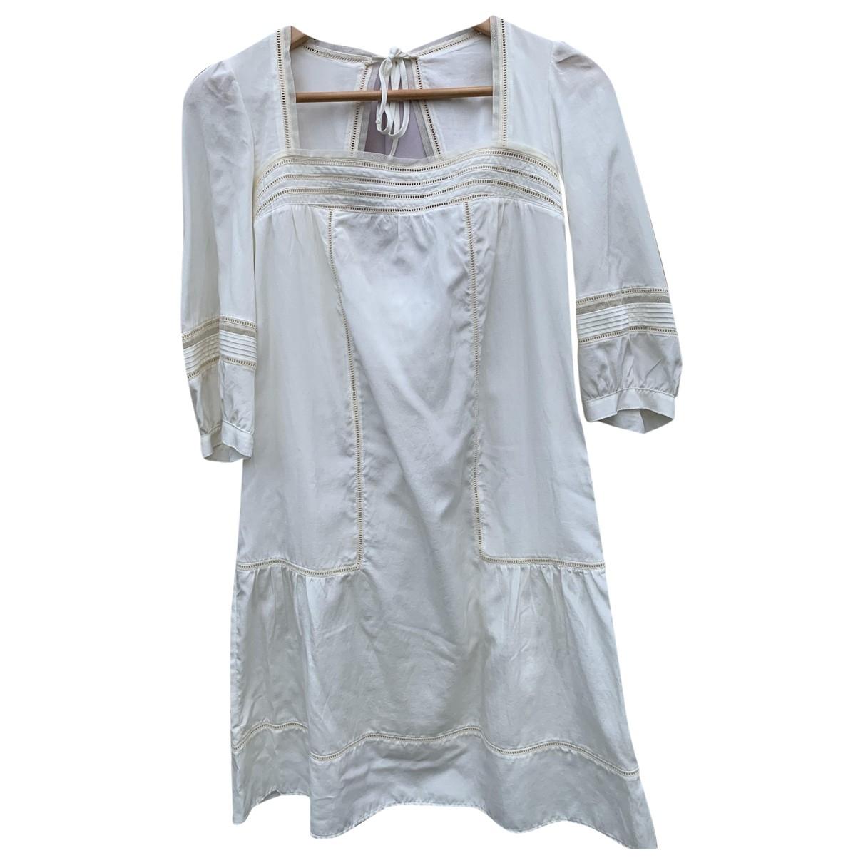 - Robe   pour femme en soie - ecru