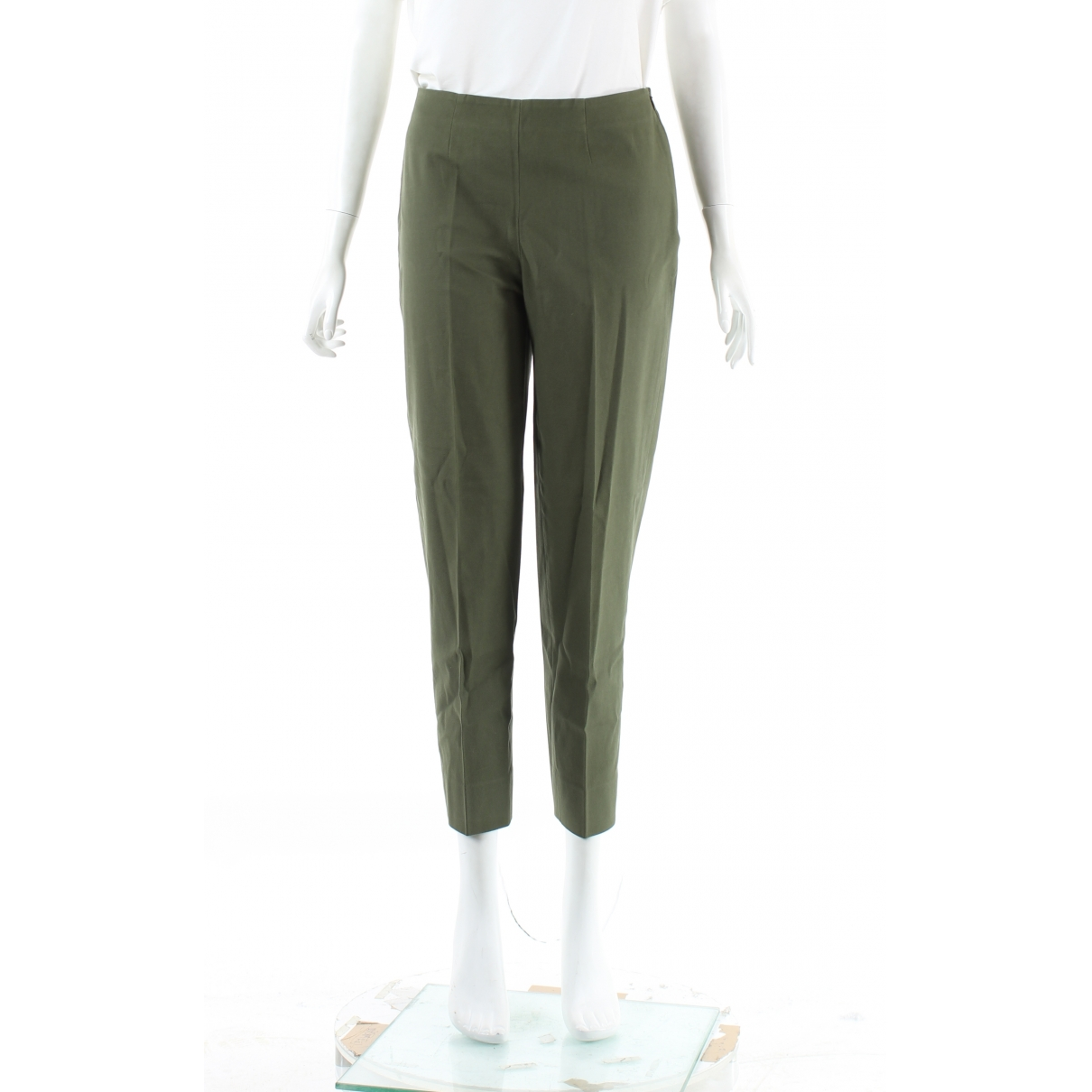 Pantalon en Algodon Caqui Autre Marque