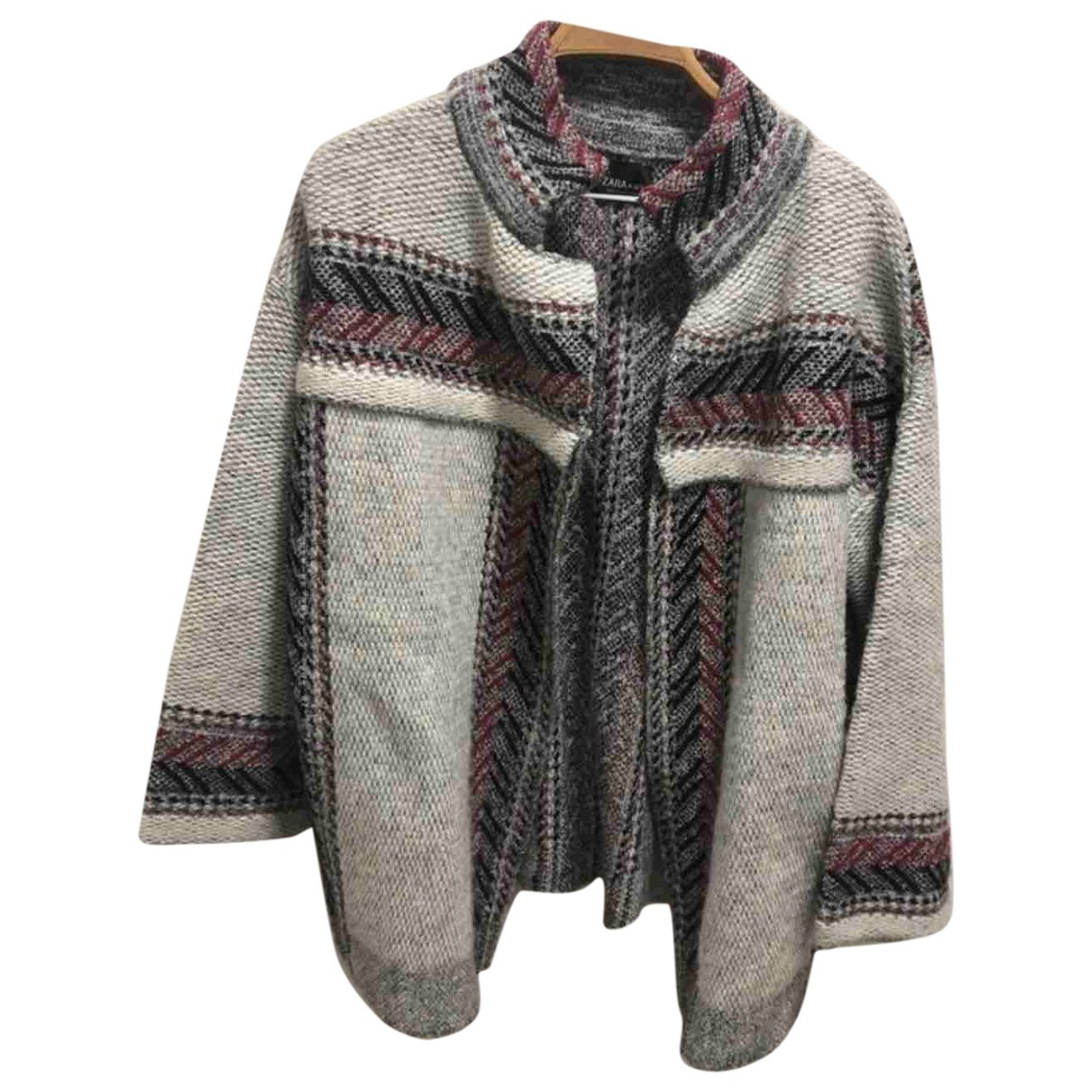 Zara - Veste   pour femme en laine - gris