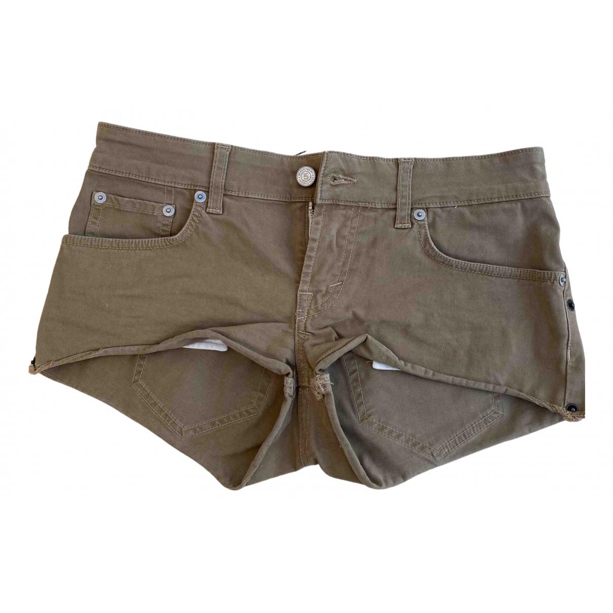Department 5 \N Khaki Cotton Shorts for Women 40 IT