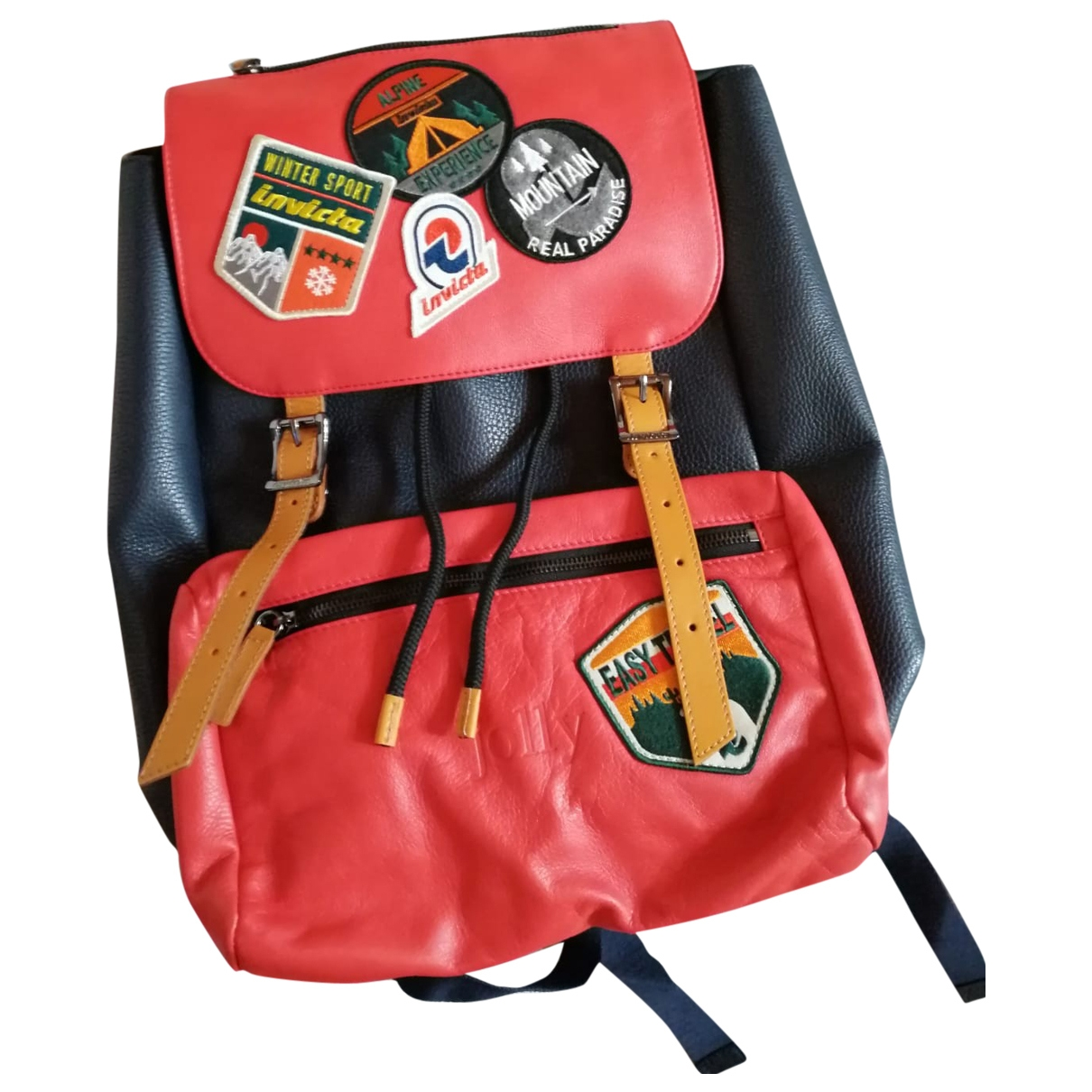 Invicta \N Red Leather backpack for Women \N
