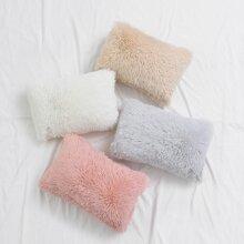 Funda de almohada lumbar de felpa sin relleno 1 pieza