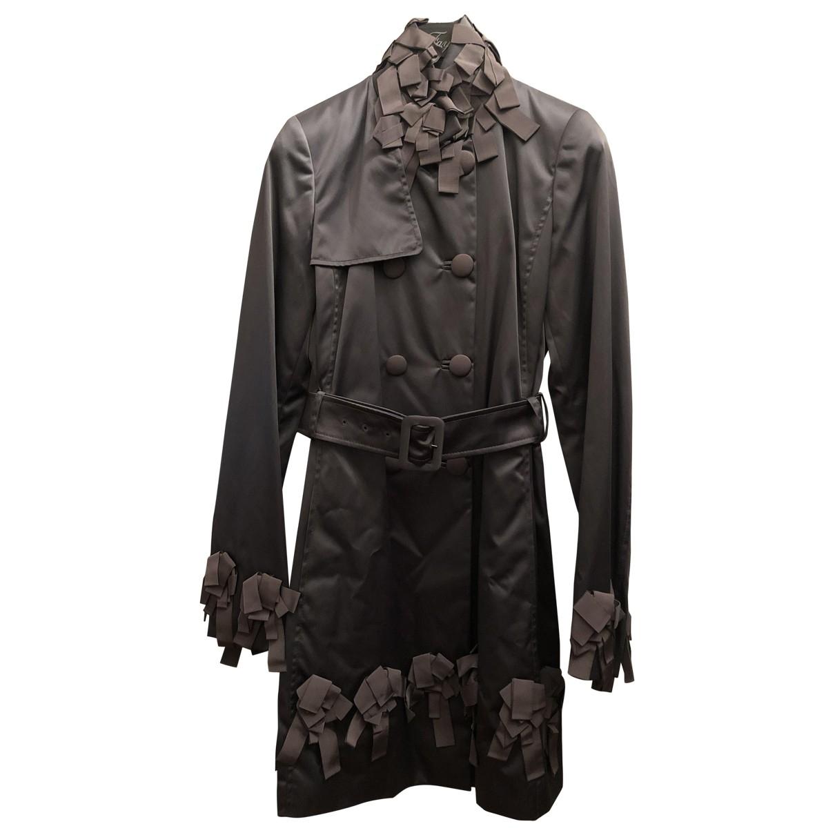 Fay - Trench   pour femme en coton - gris