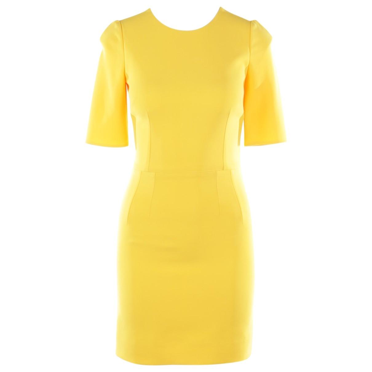 Dolce & Gabbana \N Kleid in  Gelb Viskose
