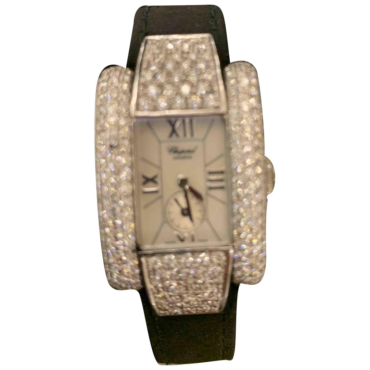 Chopard - Montre La Strada pour femme en or blanc - noir