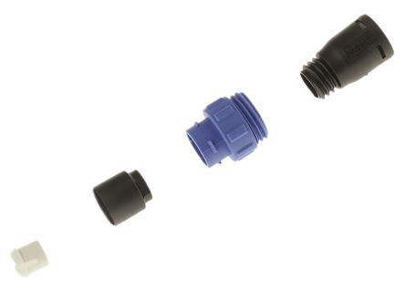 Bulgin Connector, 10 contacts Cable Mount Miniature Plug, Crimp, Solder IP68, IP69K
