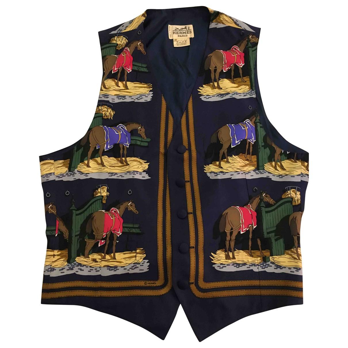 Hermès \N Blue Silk Knitwear & Sweatshirts for Men 52 IT