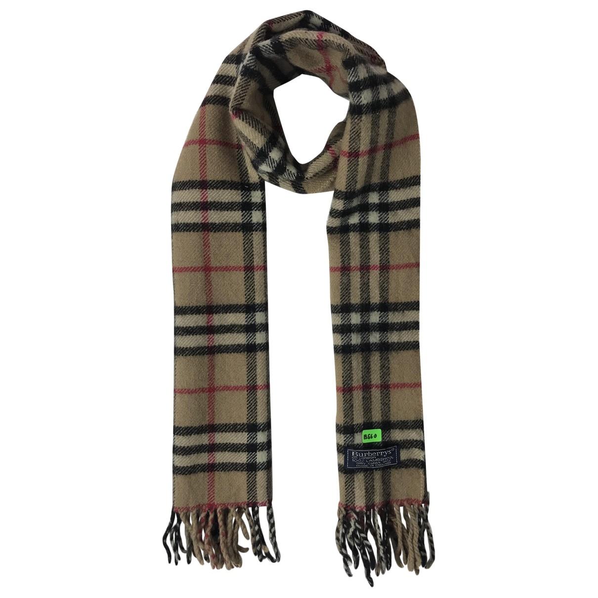Burberry - Foulard   pour femme en laine - marron