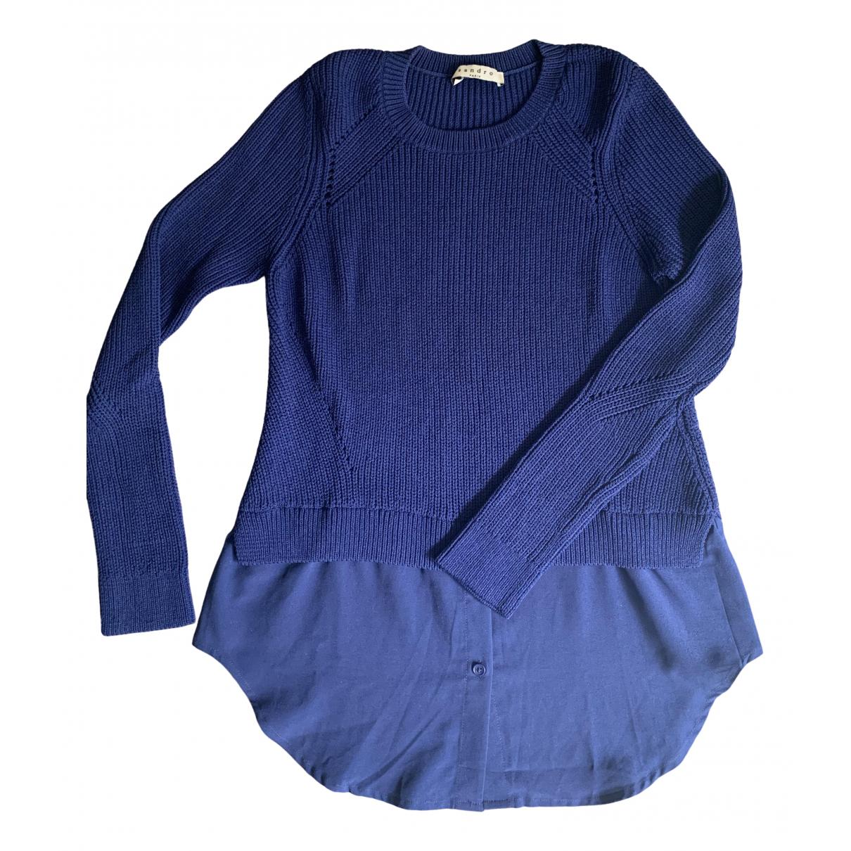 Sandro - Pull   pour femme - bleu