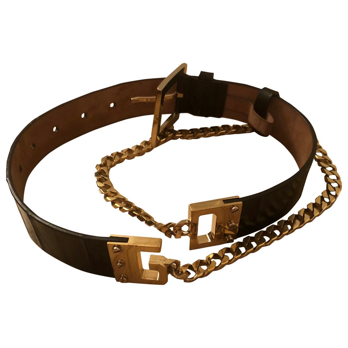 Dolce & Gabbana \N Black Eel belt for Women 90 cm