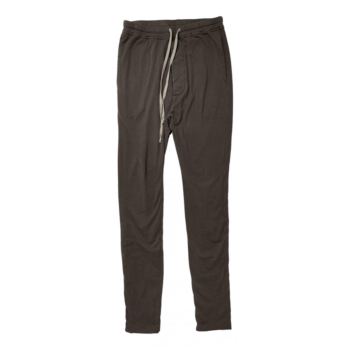 Rick Owens \N Beige Cotton Trousers for Men S International
