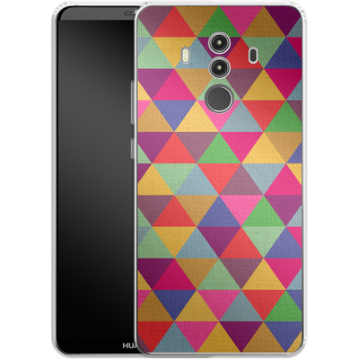 Huawei Mate 10 Pro Silikon Handyhuelle - In Love With Triangles von Bianca Green