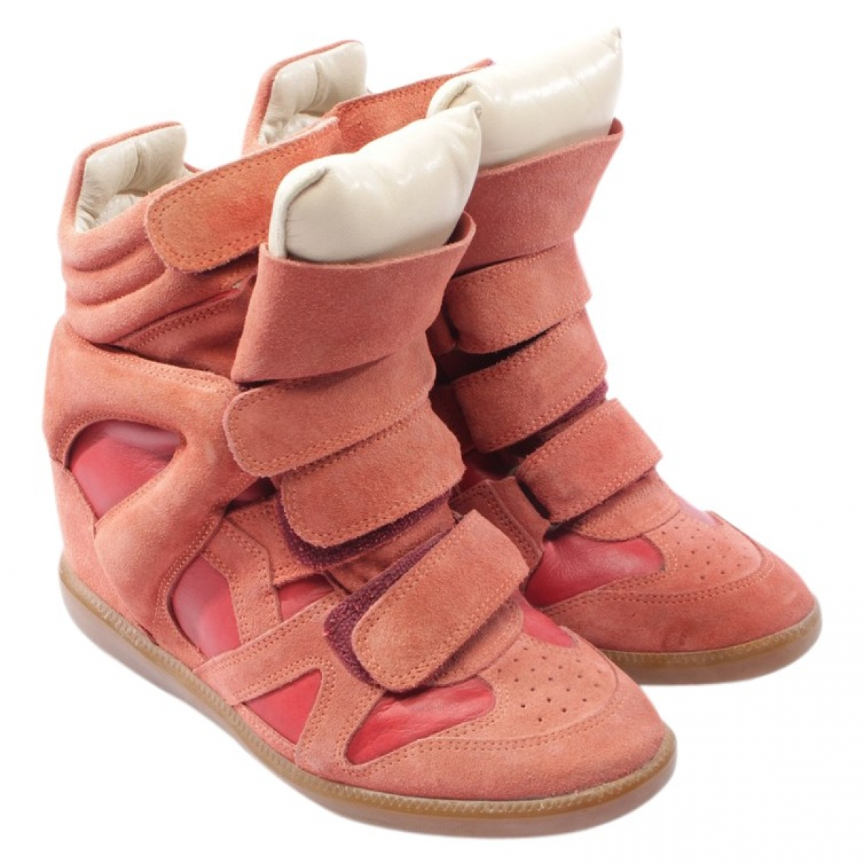 Isabel Marant - Baskets   pour femme en suede - rouge