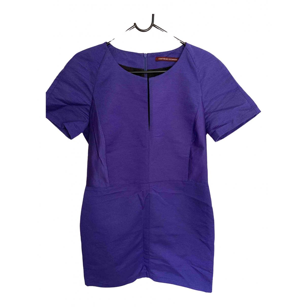 Comptoir Des Cotonniers \N Kleid in  Lila Baumwolle