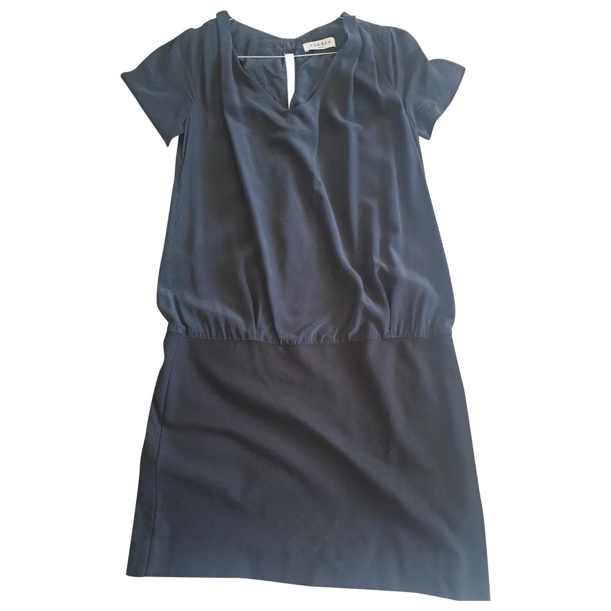 Sandro \N Black Silk dress for Women 38 FR