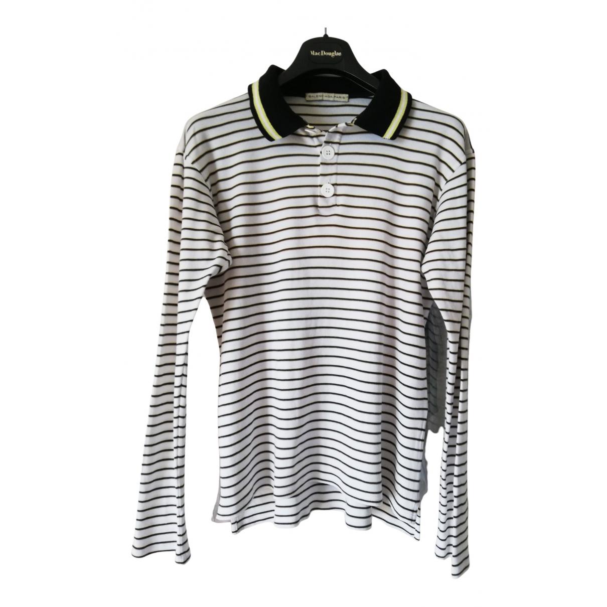 Balenciaga - Polos   pour homme en coton - blanc