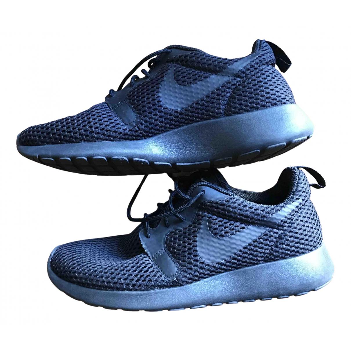 Nike - Baskets Roshe Run pour femme en toile - noir