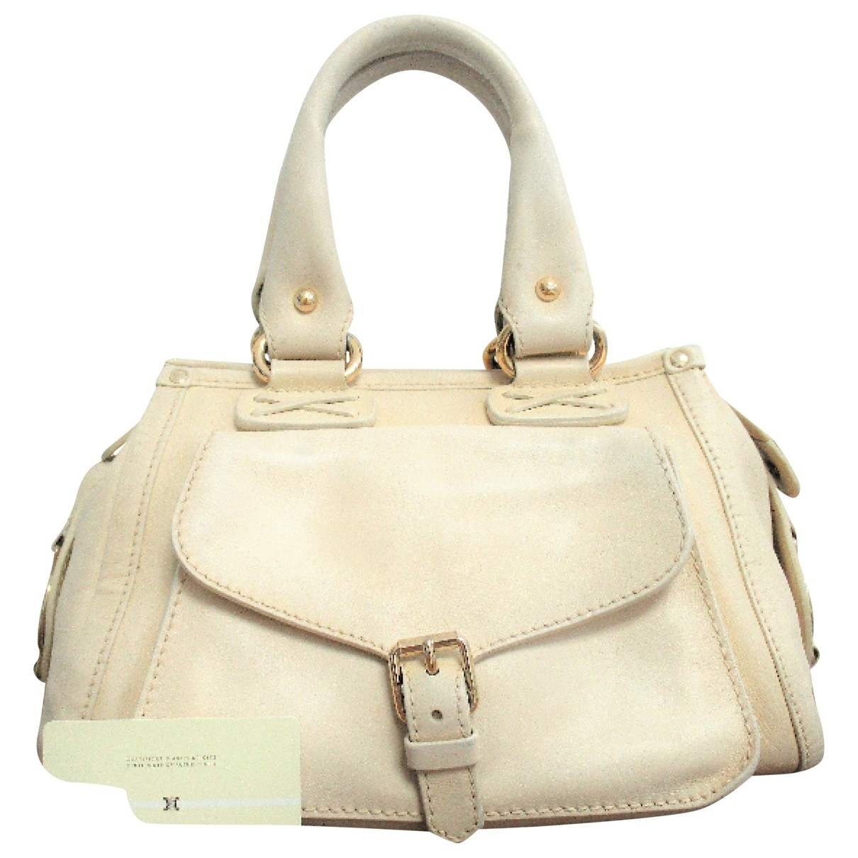 Celine \N Handtasche in  Beige Leder