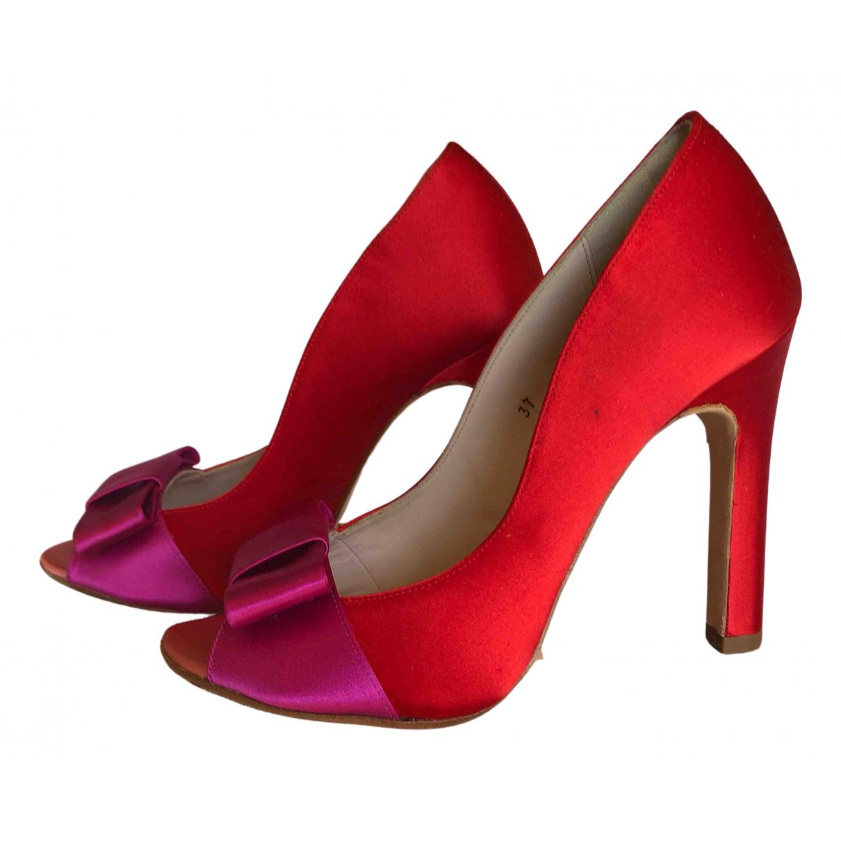 Mellow Yellow \N Red Cloth Heels for Women 37 EU
