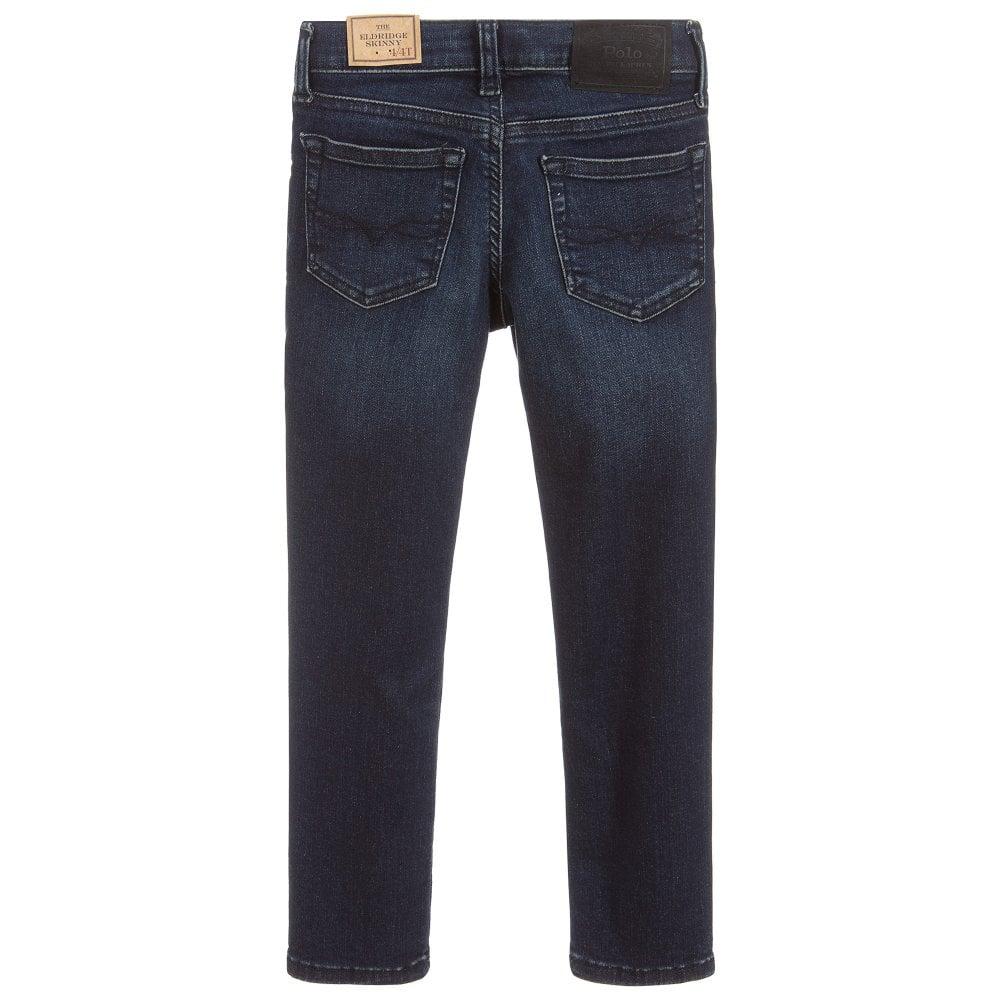 Ralph Lauren Skinny Denim Jeans Colour: BLUE, Size: 8 YEARS