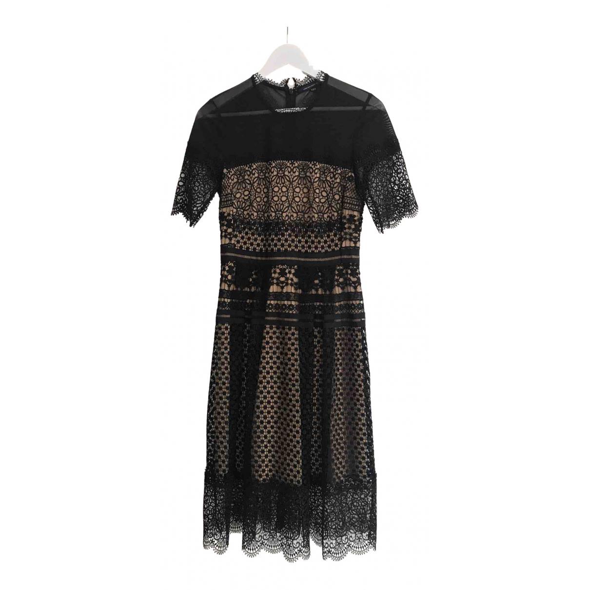 French Connection - Robe   pour femme en dentelle - noir