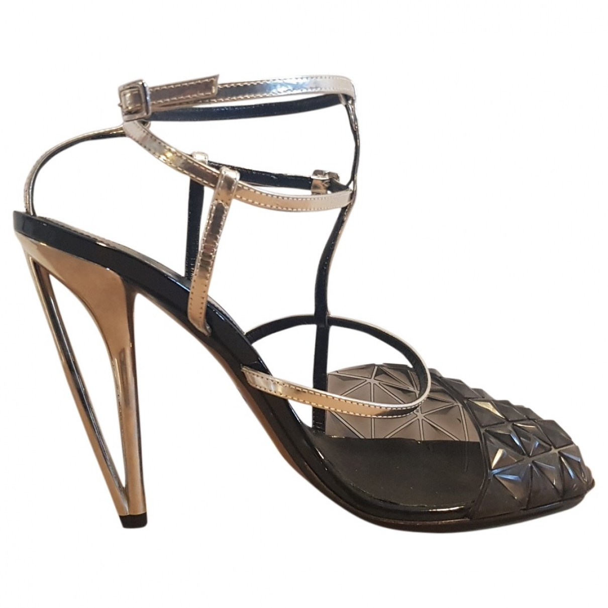 Fendi \N Grey Leather Sandals for Women 40 EU