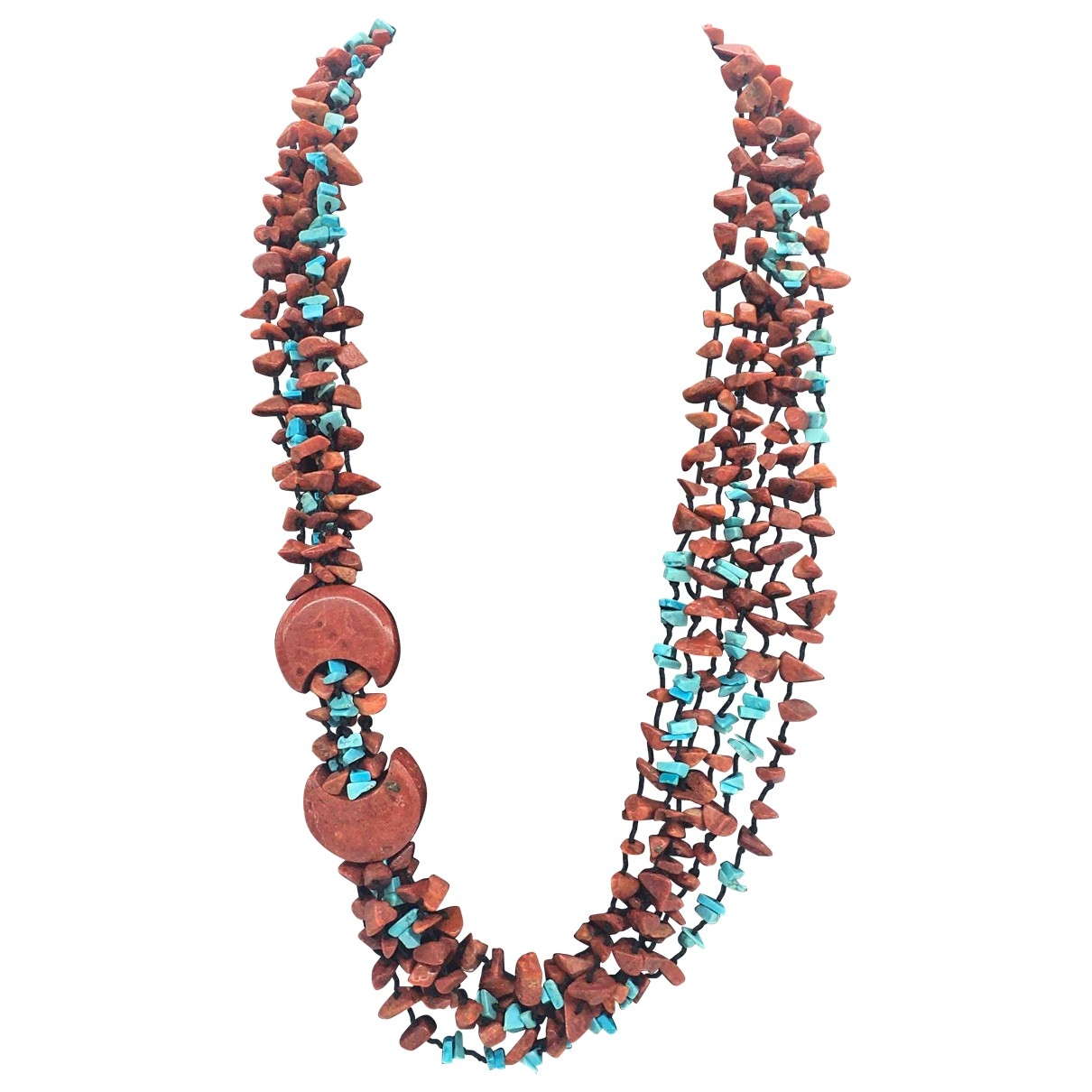 Non Signé / Unsigned \N Turquoise necklace for Women \N