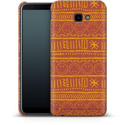 Samsung Galaxy J4 Plus Smartphone Huelle - Tribal Orange von Smiley®