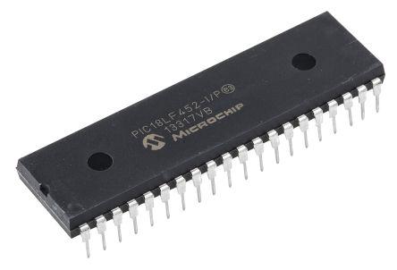 Microchip PIC18LF452-I/P, 8bit PIC Microcontroller, PIC18F, 40MHz, 32 kB Flash, 40-Pin PDIP