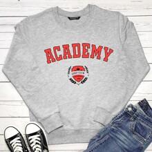 Sweatshirt mit Buchstaben und Grafik Muster